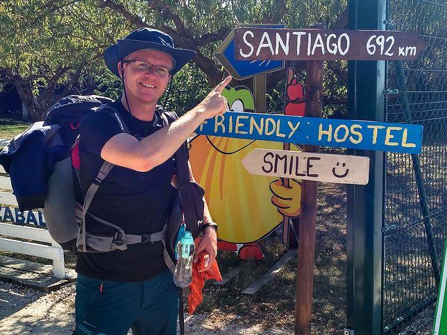 Podróżnik Marcin Nawrocki sam w ubiegłym roku przeszedł swoje Camino