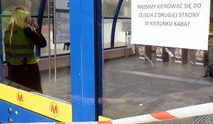Awaria schodów ruchomych przy stacji Metro Centrum