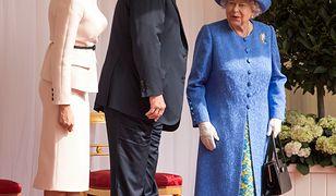 Na spotkaniu z prezydentem USA brytyjska królowa miała na sobie broszkę odziedziczoną po ''królowej matce''