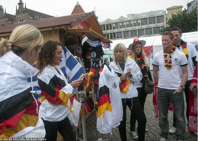 Niemieccy kibice w Gdańsku w czasie Euro 2012