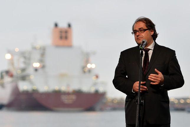 Marek Gróbarczyk, minister gospodarki morskiej.