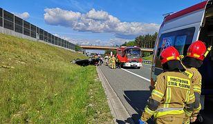 Kolizja na A4. Kierowca zasnął za kierownicą