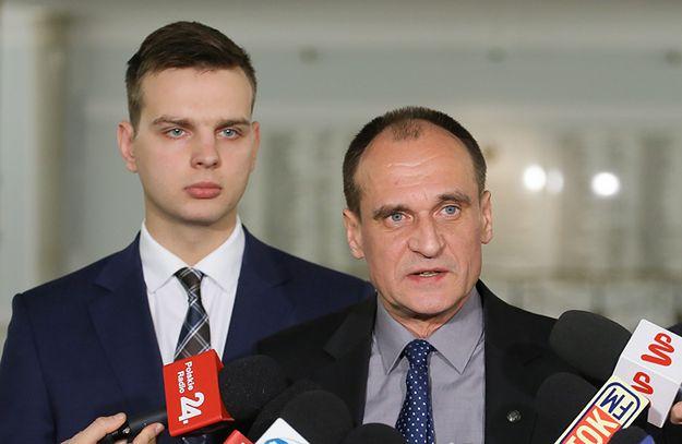 Poseł Jakub Kulesza oraz Lider i szef klubu parlamentarnego ruchu Kukiz`15 Paweł Kukiz.
