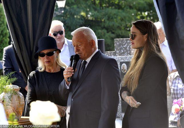 Leszek Miller podczas pogrzebu syna