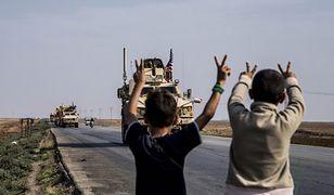 Wojna w Syrii. Amerykański konwój przy granicy tureckiej