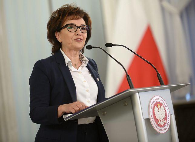 Elżbieta Witek wyjaśniła, co wzbudziło jej śmiech w Sejmie