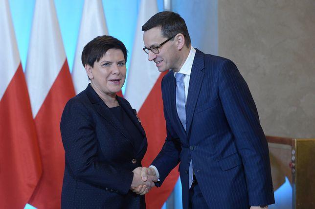 Beata Szydło była hojna dla Mateusza Morawieckiego