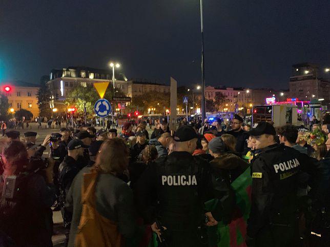 Warszawa. Część uczestników Wielkiego Marszu Klimatycznego nie zakończyła protestów po oficjalnej manifestacji