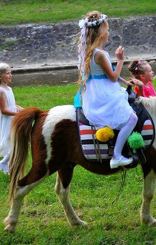 Nietypowym prezentem może być wynajęcie kucyka na imprezę komunijną. Koszt - 300-400 zł.