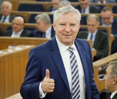 Zawieszony senator Jan Dobrzyński