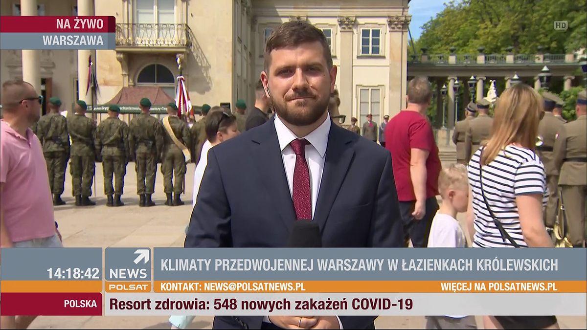 Mateusz Maranowski debiutował w Polsat News w sierpniu 2020 r.