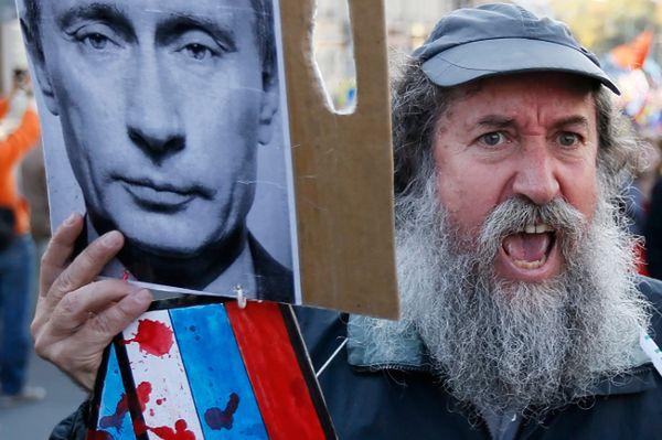 Antywojenny protest w Moskwie
