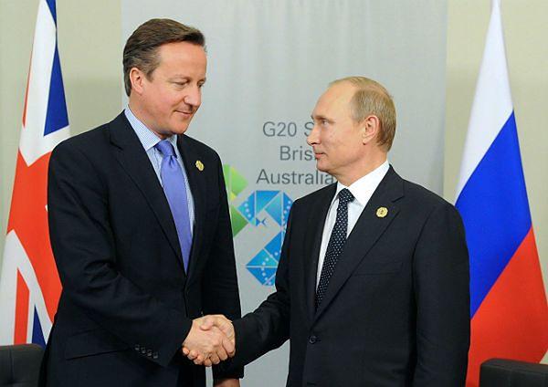 Władimir Putin i David Cameron