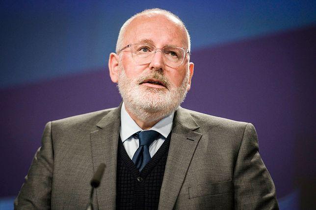 Timmermans chce wszczęcia postępowania wobec Polski w związku z ustawą o SN
