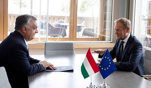 Donald Tusk spotkał się przed szczytem z premierem Węgier Viktorem Orbanem. Czy przekonał go do kandydatury Fransa Timmermansa?