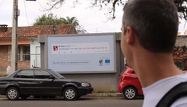 Komentarze hejterów powiesili na plakatach pod ich domami. Nietypowa akcja społeczna