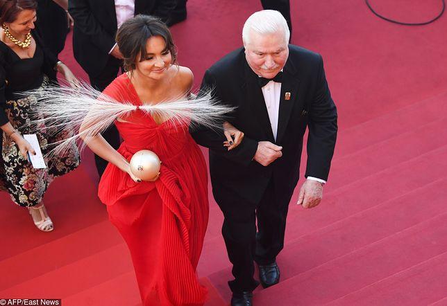 Dominika Kulczyk i Lech Wałęsa w Cannes