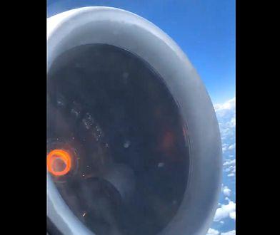 Awarię silnika nagrał jeden z pasażerów