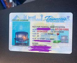 Amerykanka odnowiła prawo jazdy. Nowy dokument otrzymała z nietypowym zdjęciem