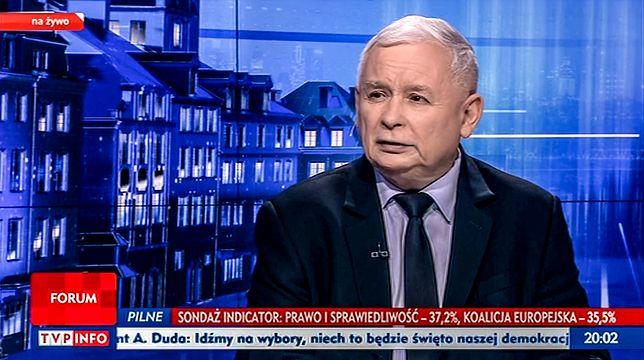 Wybory do europarlamentu 2019. Jarosław Kaczyński w TVP