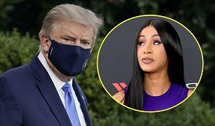 Cardi B sugeruje, że Donald Trump udaje zarażonego koronawirusem