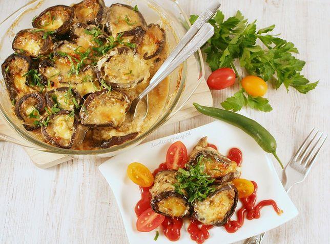 Zapiekane roladki z grillowanego bakłażana z mielonym mięsem i serem