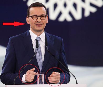 Mateusz Morawiecki podczas sobotniego wystąpienia