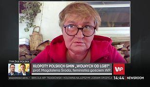 """Magdalena Środa o strefach wolnych od LGBT. """"Pomysł jest absolutnym skandalem"""""""