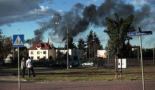 Po awarii nad Płockiem pojawił się ciemny dym