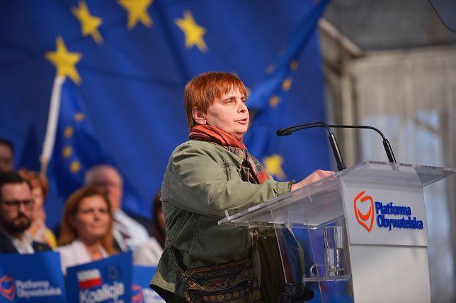 Janina Ochojska na konwencji PO