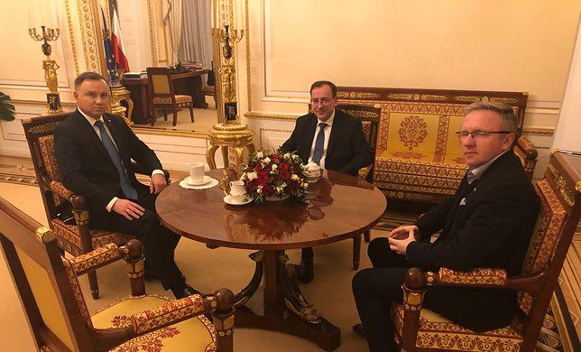 Koronawirus z Chin. Andrzej Duda spotkał się z Mariuszem Kamińskim w Pałacu Prezydenckim