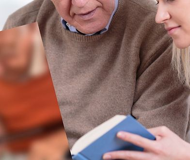 Dziadek pomógł wnuczce po przebytej operacji