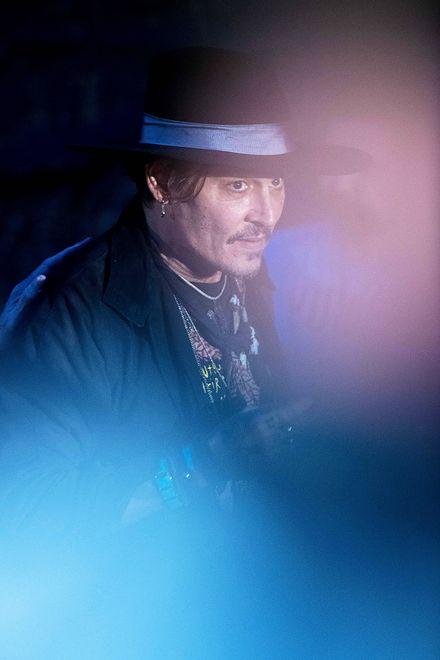 Johnny Depp sfotografowany podczas festiwalu Glastonbury