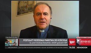 Ks. prof. Andrzej Kobyliński przygnębiony wersją katolicyzmu w wersji toruńskiej