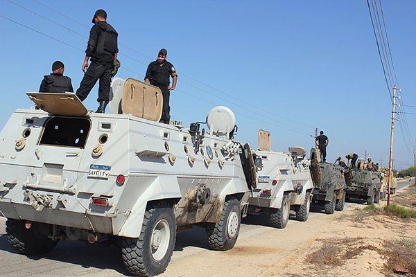 Egipskie siły bezpieczeństwa na Półwyspie Synaj