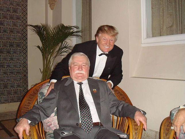 Lech Wałęsa i Donald Trump podczas spotkania w 2010 r., Floryda, USA