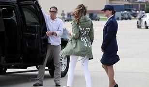 Melania Trump w drodze do Teksasu