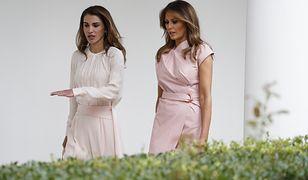 Melania Trump na spotkaniu z Królową Jordanii.
