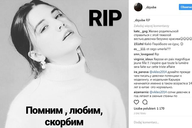 14-letnia modelka zapracowała się na śmierć. Nie ona pierwsza zmarła z wycieńczenia