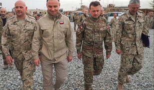 Andrzej Duda i Mariusz Błaszczak w Afganistanie