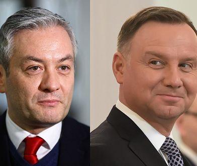 Wybory prezydenckie 2020. Europoseł Robert Biedroń i prezydent RP Andrzej Duda.