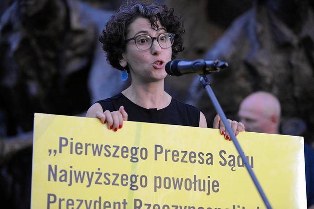 Szefowa Amnesty International prosiła o wsparcie dla kobiet blokujących marsz
