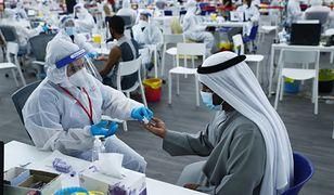 ZEA. Liczba wykonanych testów na COVID-19 przekroczyła liczbę mieszkańców