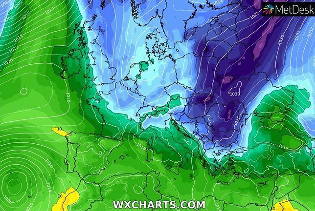 Pogoda. Do czwartku pogodnie, ale nadal chłodno (wxcharts.com)