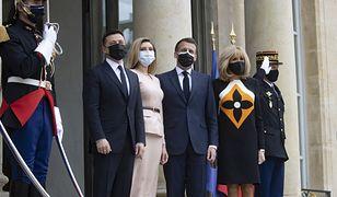 Paryż. Prezydent Ukrainy przyleciał na rozmowy z prezydentem Emmanuelem Macronem
