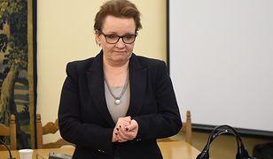Nauczyciele żądają dymisji minister edukacji
