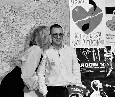 Jerzy Owsiak i Agata Młynarska na archiwalnych zdjęciach. Tak wyglądały początki WOŚP