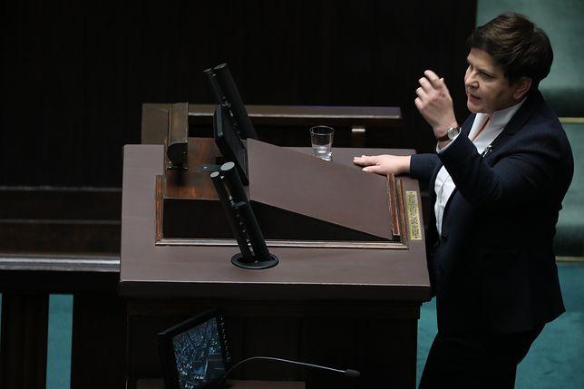 Spadek poparcia dla PiS-u wiązany jest z niedawnym wystąpieniem Szydło w Sejmie
