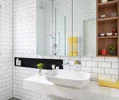 Biała łazienka: projekt, zdjęcia, pomysł na aranżację
