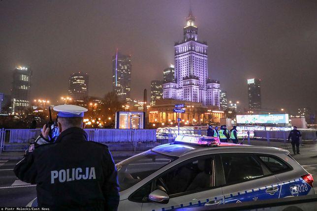 Warszawa. W nocy z 27 na 28 stycznia br. doszło do kilku kolizji na Marszałkowskiej w centrum stolicy